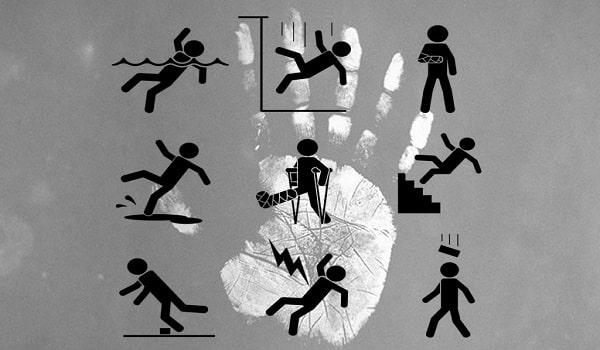 несчастые случаи. знаки в хиромантии